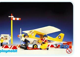 Playmobil - 3457 - Avion polaire jaune avec station de méteo