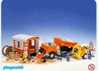 Playmobil - 3474v1 - Road Workers with Truck and Trailer