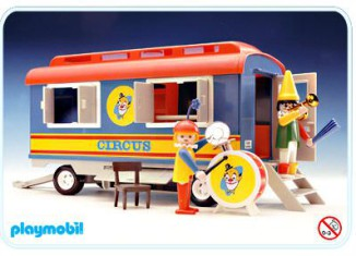 Playmobil - 3477v2 - Circus Clown Trailer