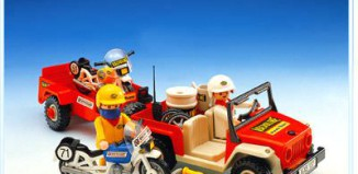 Playmobil - 3478 - Jeep & race motorbikes