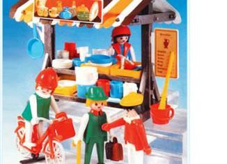 Playmobil - 3486-lyr - Pottery Market Stall