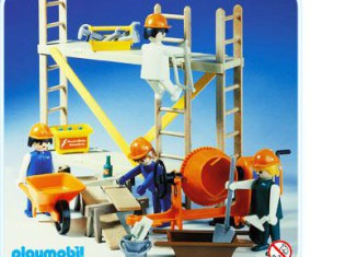Playmobil - 3492v1 - Construction Workers and Scaffold