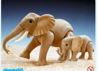 Playmobil - 3493 - Mama and Baby Elephant