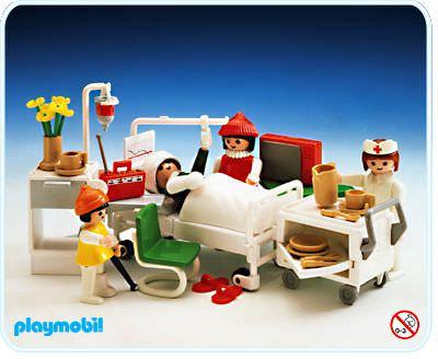 Playmobil set 3495 hospital room klickypedia for Hospital de playmobil