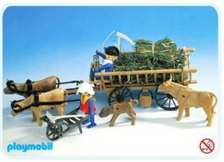 Playmobil - 3503s1 - Leiterwagen mit Kühen und Heu