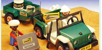 Playmobil - 3532v2 - Green jeep in the desert