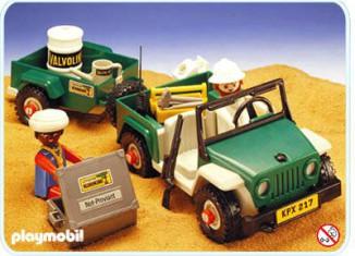 Playmobil - 3532v2 - Green jeep in the desert