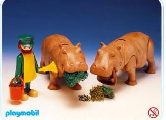 Playmobil - 3547 - Hippos & Keeper