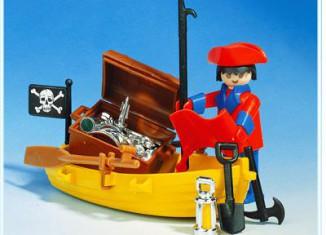 Playmobil - 3570 V1 - pirate / rowboat