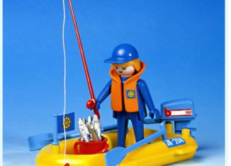 Playmobil - 3574v1 - Fisherman In Rowboat