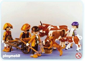 Playmobil - 3612 - Fermiers & vaches