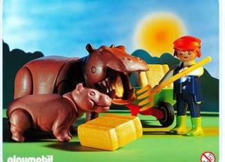 Playmobil - 3639 - Zoo Keeper & Hippos