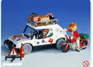 Playmobil - 3680 - Traveller by car and biker