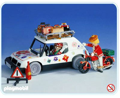 playmobil set 3680 traveller by car and biker klickypedia. Black Bedroom Furniture Sets. Home Design Ideas