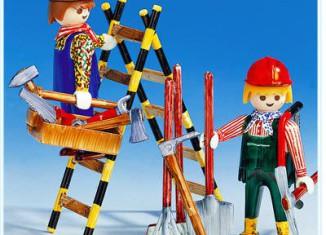 Playmobil - 3691 - Ouvriers du bâtiment