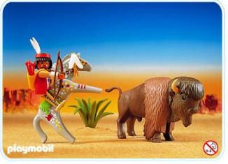 Playmobil - 3731 - Indianer mit Bison