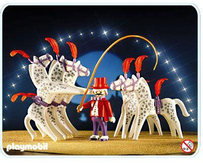 Playmobil set 3742 circus horses with ringmaster - Pferde playmobil ...