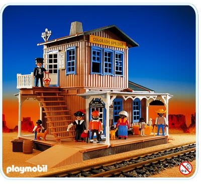 playmobil set 3770 colorado springs station klickypedia. Black Bedroom Furniture Sets. Home Design Ideas
