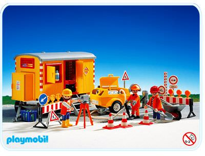 Playmobil set 3777 construction site and trailer - Playmobil travaux ...