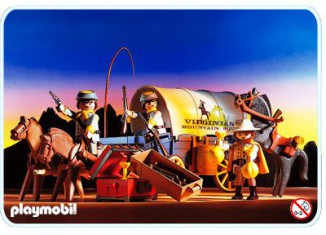 Playmobil - 3785 - Confederate Covered Pay Wagon