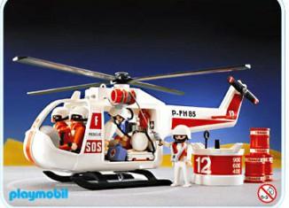 Playmobil - 3789v2 - White Rescue Helicopter