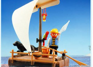 Playmobil - 3793 - pirate / raft (white sail)
