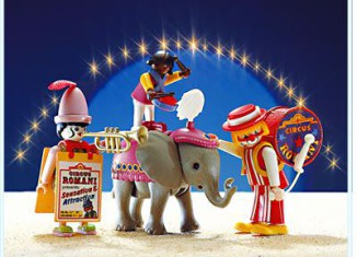 Playmobil - 3797 - 3 Clowns With Baby Elephant