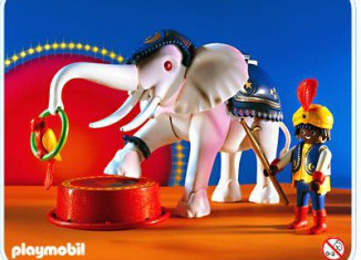 Playmobil - 3809 - White Elephant with Trainer