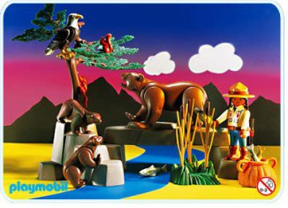 Playmobil - 3830 - Kodiak Bears And Ranger