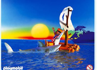 Playmobil - 3862 - castaway with shark