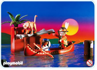 Playmobil - 3875 - Trackers Canoe