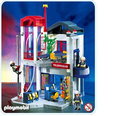 playmobil set 3885 fire station with hose tower. Black Bedroom Furniture Sets. Home Design Ideas