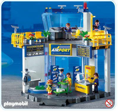 playmobil airport terminal instructions