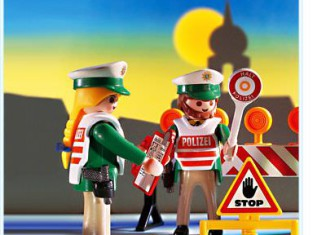 Playmobil - 3905-ger - Police Checkpoint