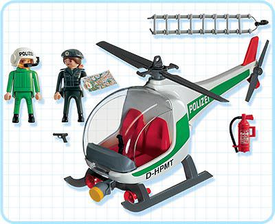 Playmobil 3907-ger - Aerial Police Unit - Back