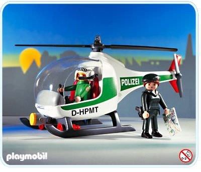 Playmobil - 3907-ger - Aerial Police Unit
