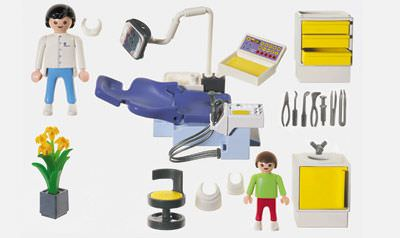Playmobil 3927 - Dentist's Office - Back