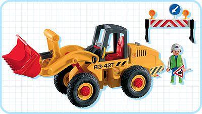 Playmobil 3934 - Front Loader - Back