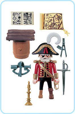 Playmobil 3936 - Pirate captain - Back