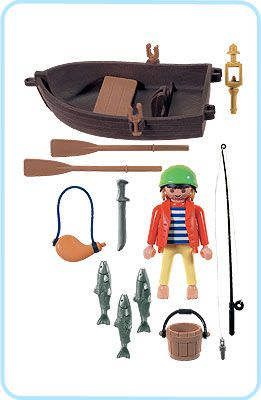 Playmobil 3937 - Pirate and rowboat - Back