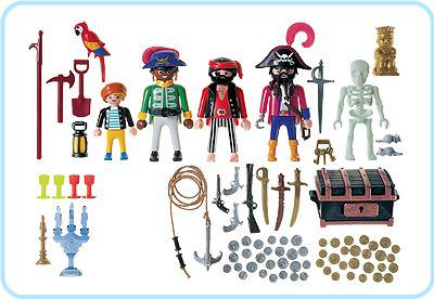 Playmobil 3939 - Pirate crew - Back