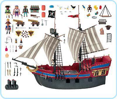Playmobil 3940 - Gran buque insignia pirata - Volver