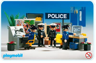 playmobil set 3957 police central klickypedia. Black Bedroom Furniture Sets. Home Design Ideas