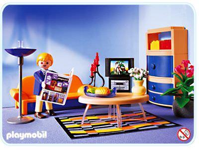 Playmobil set 3966 family room klickypedia for Wohnzimmer playmobil