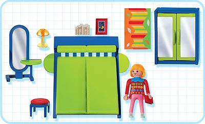 Playmobil set 3967 bedroom klickypedia for Playmobil chambre parents