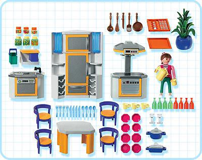 Playmobil set 3968 kitchen klickypedia for Cuisine playmobil