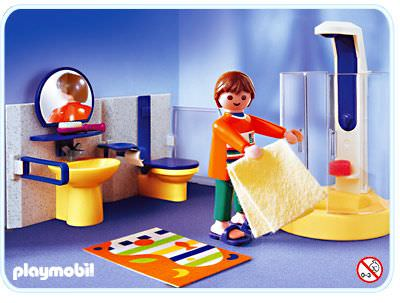 Playmobil set 3969 bathroom klickypedia for Cuisine playmobil