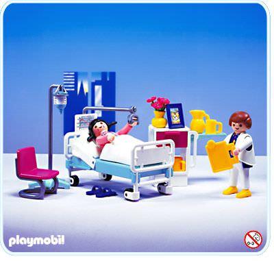 Playmobil set 3980 hospital room klickypedia for Hospital de playmobil