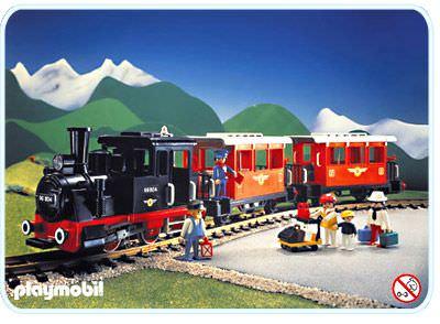 Playmobil set 4001 passenger train with steam - Train playmobil ...