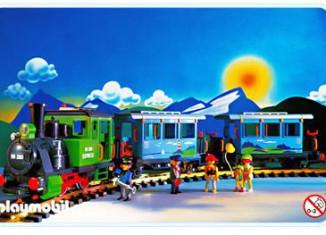 Playmobil - 4005 - Green Passenger Train Set
